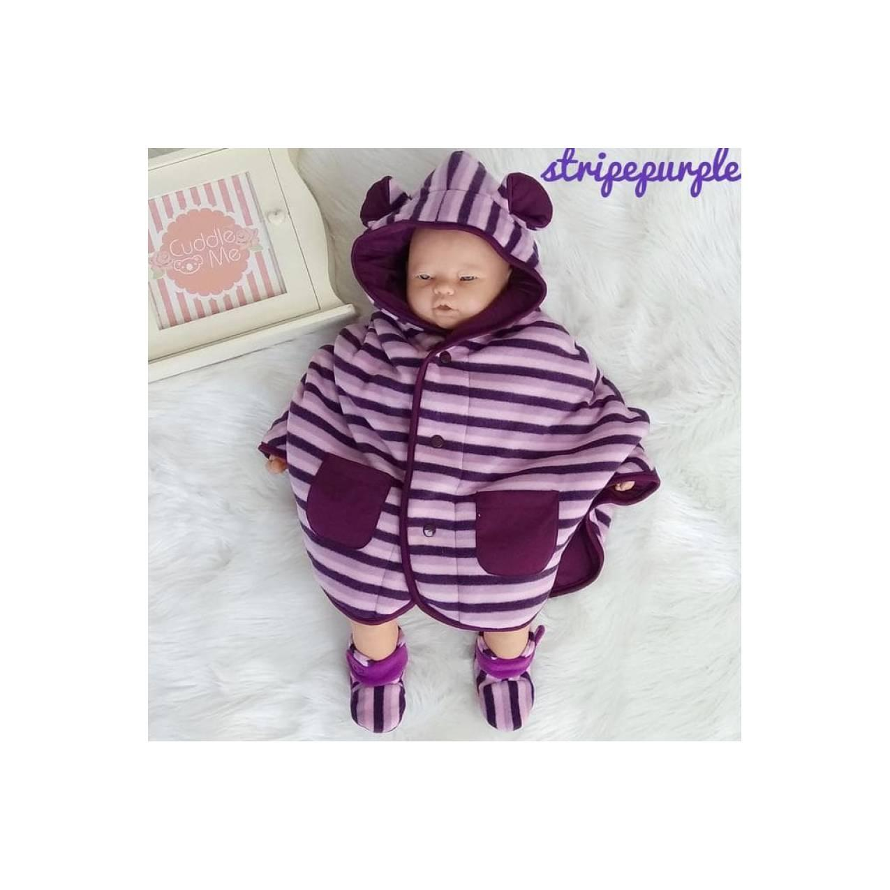 1 Set Cuddleme Babycape & Fitted Booties Jaket Bayi Sepatu Bayi