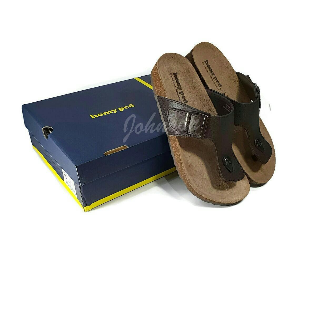 Johnson Shoes   Sandal Jepit Kulit Pria HOMYPED - SIERRA 06 BLACK dan  COFFEE 100 5e1c2b8e81