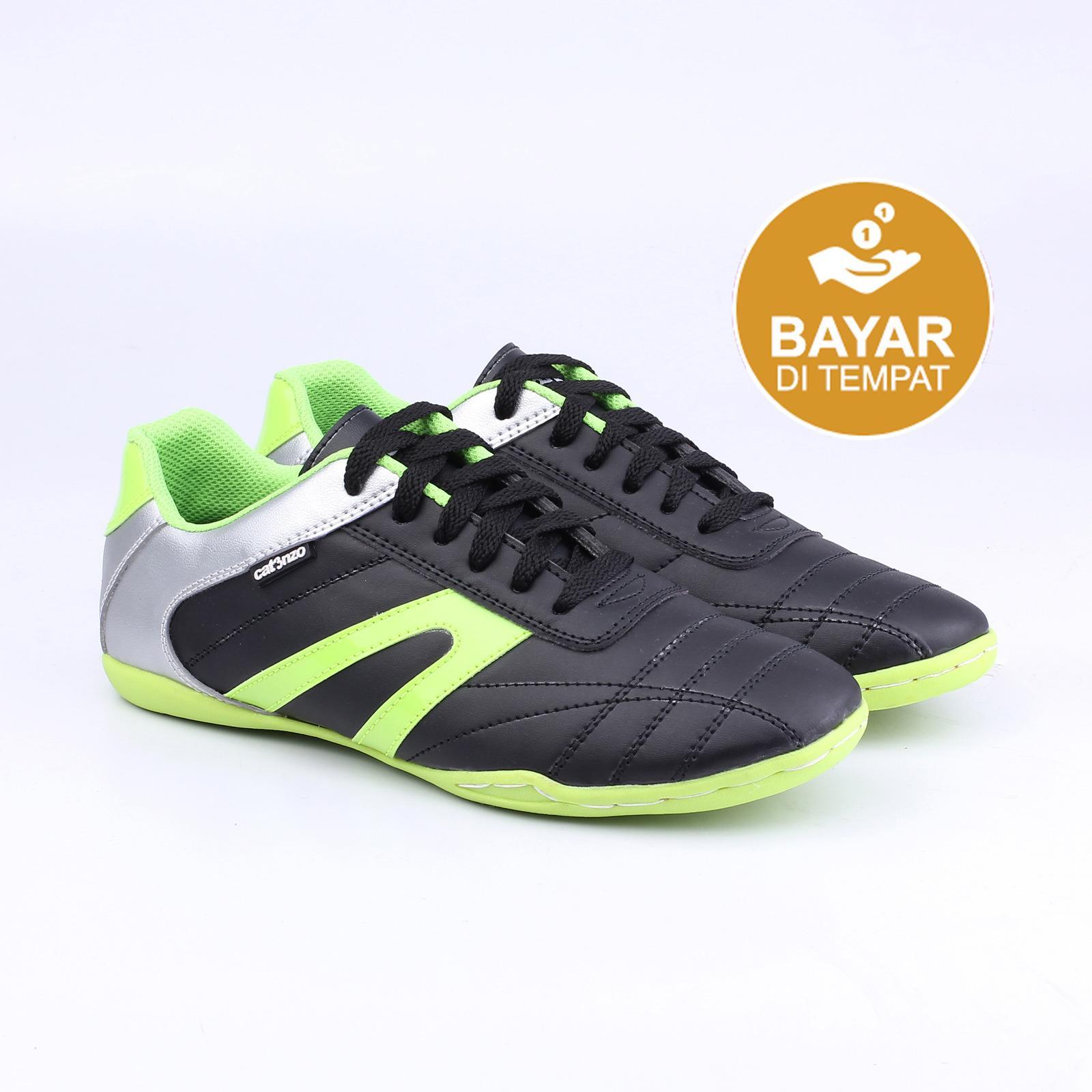 Futsal Shoes Catenzo Sandal Pria Outdoor Full Black Sepatu Original Ns Best Seller