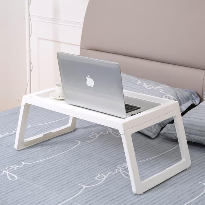 LOA - Meja Belajar Nampan Bed Meja Laptop  ( Bukan Produk Ikea Klipsk Bed ) - Putih Harga Promo