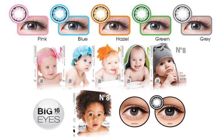 Promo - Softlens x2 ice no.8 baby eyes BIG EYES 16MM ( N8 , no8 ) Original