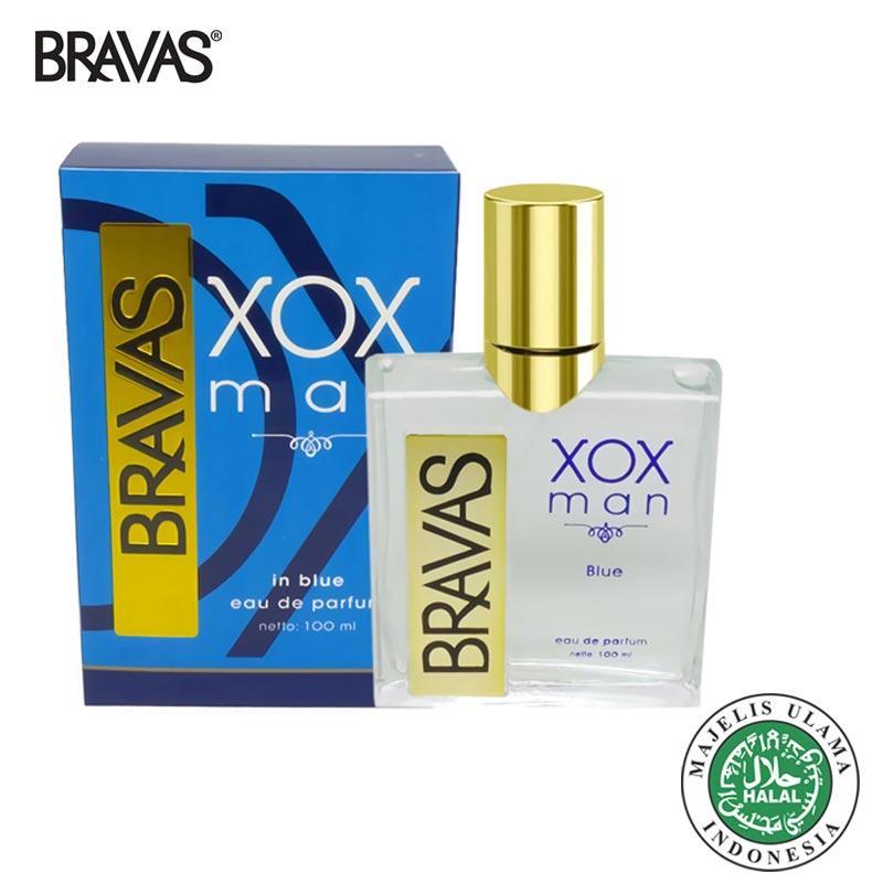 BRAVAS XOX BLUE 100 ML Man Original Eau De Parfum Perfume Cologne Halal XX-CT