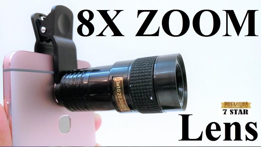 Lensa Smartphone Tele Lens 8x With Clip 7STAR / Telezoom Jepit High Quality For All Smartphone Random Color