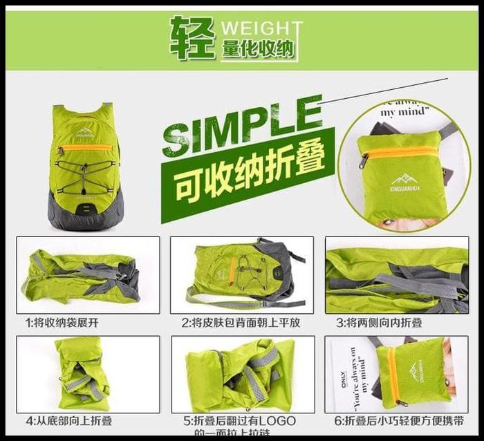Tas Gunung Xinguanhua Tas Gunung Lipat Hiking Camping Waterproof Backpack 17L Sale!