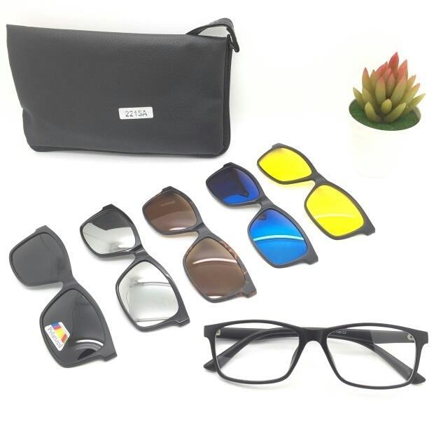 Terbaru!! Kacamata Rayban Clip On 2215A Free 5 Lensa - ready stock