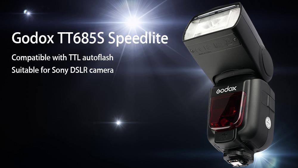 GODOX TT685S TTL LCD Flash Speedlite untuk Sony DSLR A77II A7RII A7R A58 A99 ILCE6000L