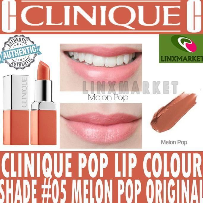 TERMURAH CLINIQUE POP LIP COLOUR SHADE #05 MELON POP ORIGINAL LIPSTICK - LIPSTIKQ