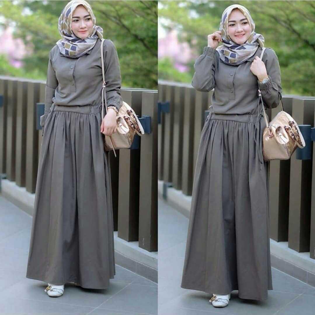 Baju Muslim Original Gamis Sadira Dress Baloteli Baju Terusan Gamis Wanita  Baju Panjang Gaun Modis Casual 4aec73647c