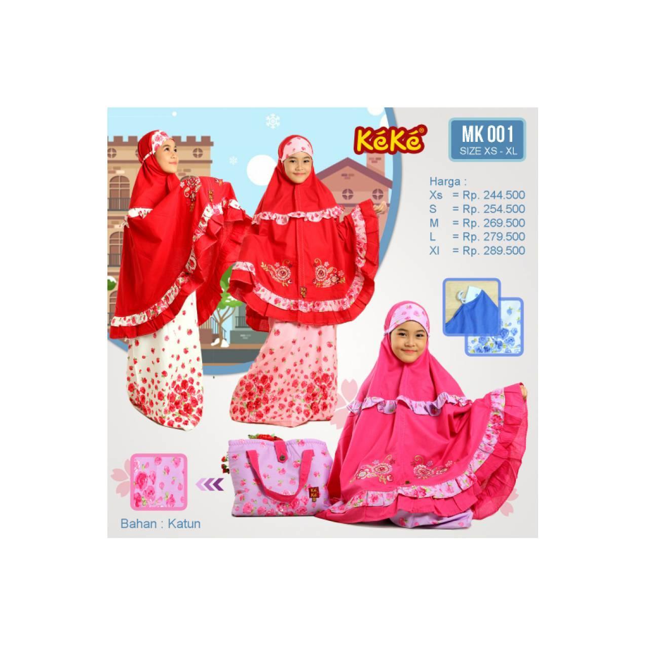Qonitah Project Size XS Mukena Anak Original Keke Busana Muslim MK 001