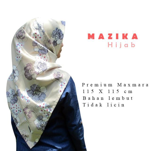 WarungSiBossKerudung Segi Empat / Kerudung Segi Empat Motif / Hijab Segi Empat Motif Crayon Maxmara