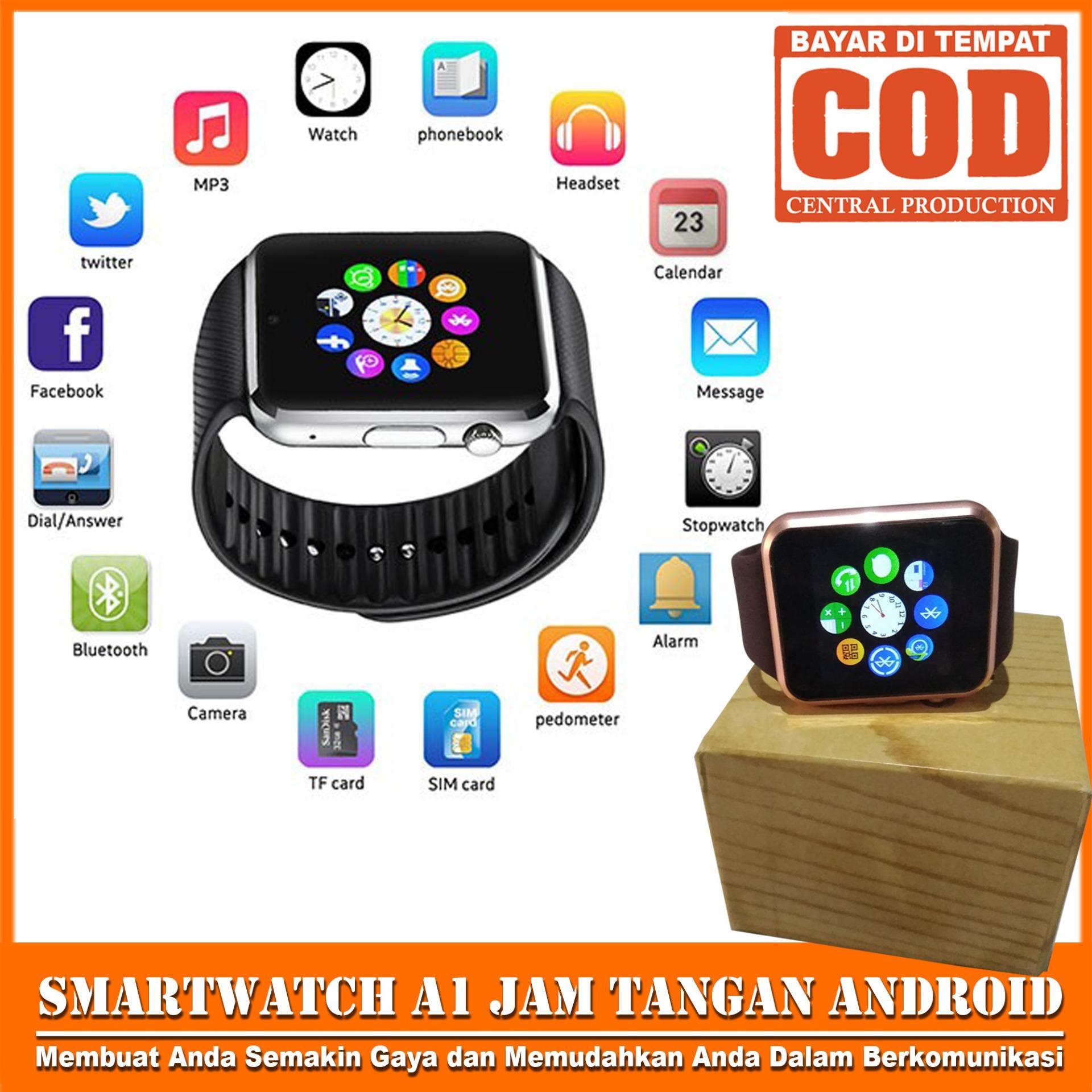 SKY Jam Tangan iwatch U10 / A1 REAL PICTURE Smart Watch Touch Screen + GSM Smartwatch Gear/Support Sim Card dan Memori Card