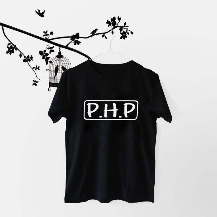 HnK T-shirt / Kaos Wanita / Tumblr Tee PHP - Hitam