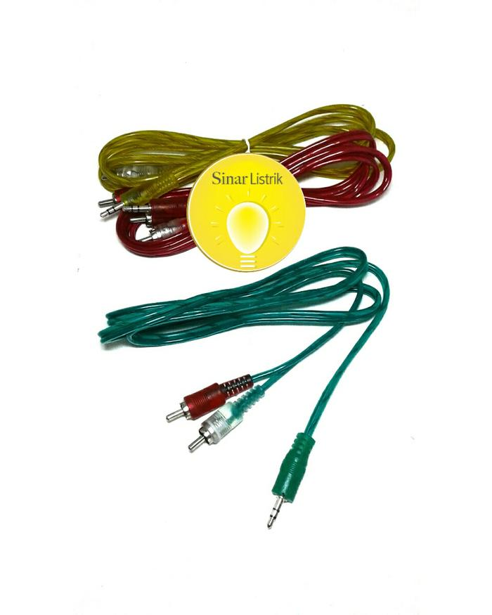 Cuci Gudang Terlaris Kabel speker ke hp / Kabel rca 2-1 speaker aktif / speaker laptop / speaker super bass