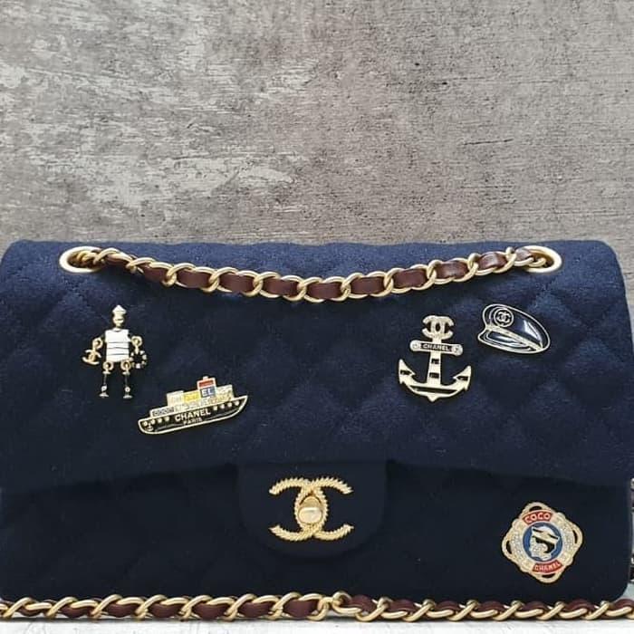 Channel Classic Wool 25cm Shoulder Bag   Tas Selempang Pesta Wanita 4ce85aedb7