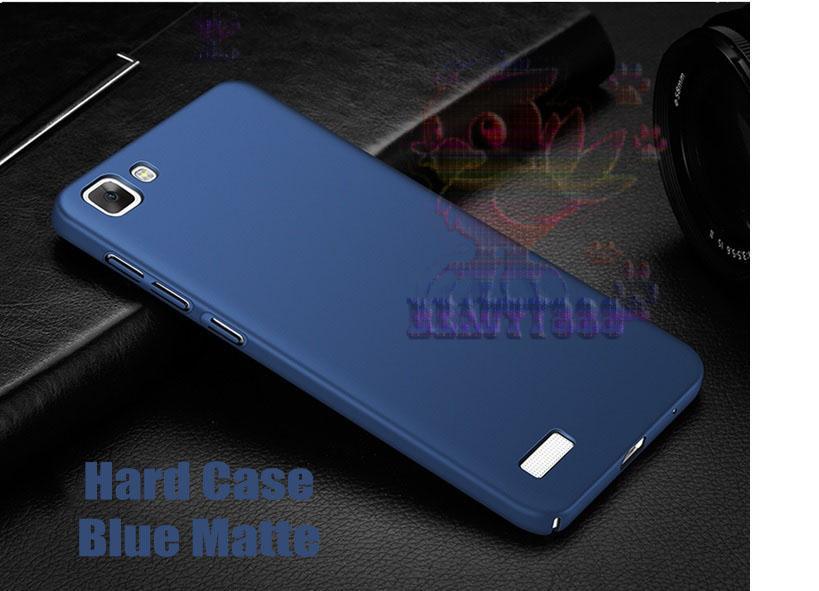 Case Vivo Y35 Hard Slim Blue Mate Anti Fingerprint Hybrid Case Baby Skin Vivo Y35 Baby Soft Vivo Y35 Hardcase Vivo Y35 Plastic Back Cover / Casing Vivo Y35 / Case Vivo Y35 - Navy / Biru tua