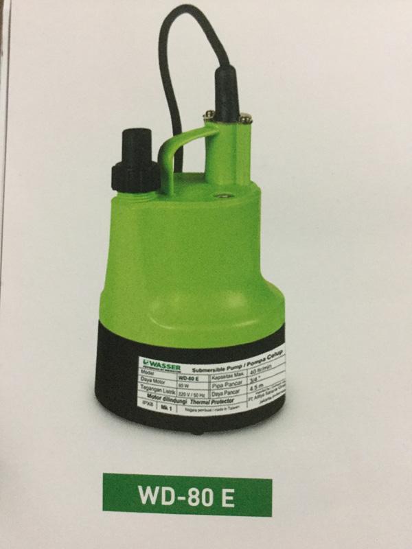 WASSER Pompa Celup WD80E 80W waser wd80