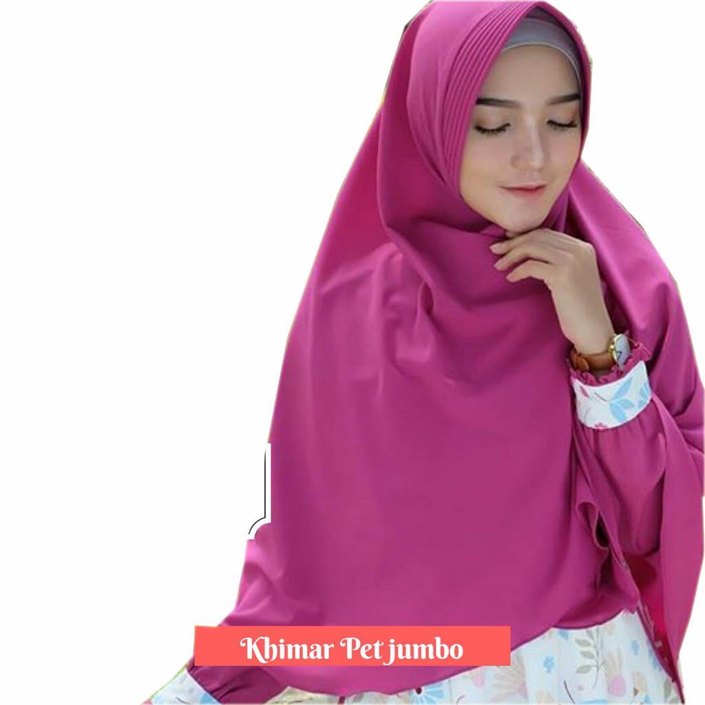 Jual Premium Jilbab Syari Tanpa Pet Model Khimar Dhea Free Bross Jumbo Syar I Ukuran 85x115cm
