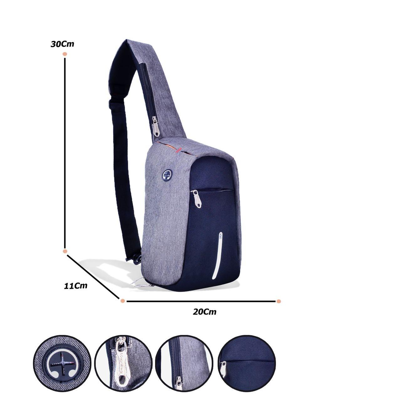 key bag Tas Slempang Pria Anti Maling Chest Bag Crossbody Anti Theft Hole  Hands free1205- af047c3c8e