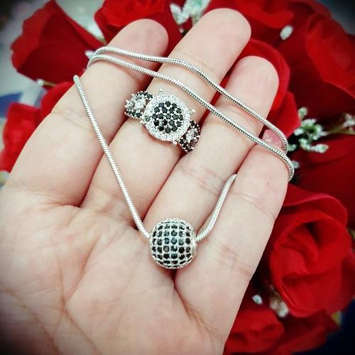 kalung cincin bola2 gold silver cantik xuping