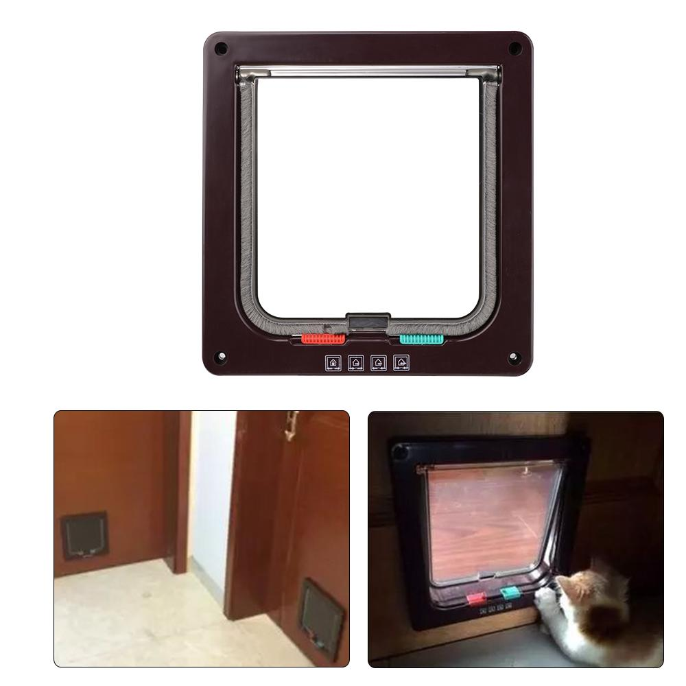 Electromagnetic Big Cat Small Dog Mate Pet Door Flap Exit 4-Way Locking L PS068