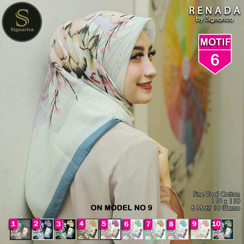 Hijab Segi Empat RENADA 6 By SIGNARICA - Jilbab kerudung MOTIF