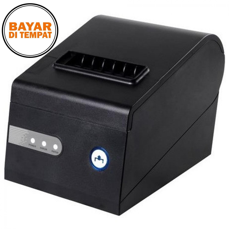 Xprinter Thermal Receipt Printer with Serial / LAN / USB Port - XP-C260K - Black / Hitam - Printer Kasir Pembayaran Struk Belanja Berkualitas