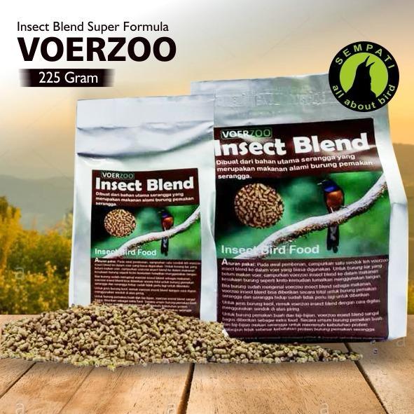 Pakan Burung Murai Kacer 225 Gram Insect Blend Voerzoo