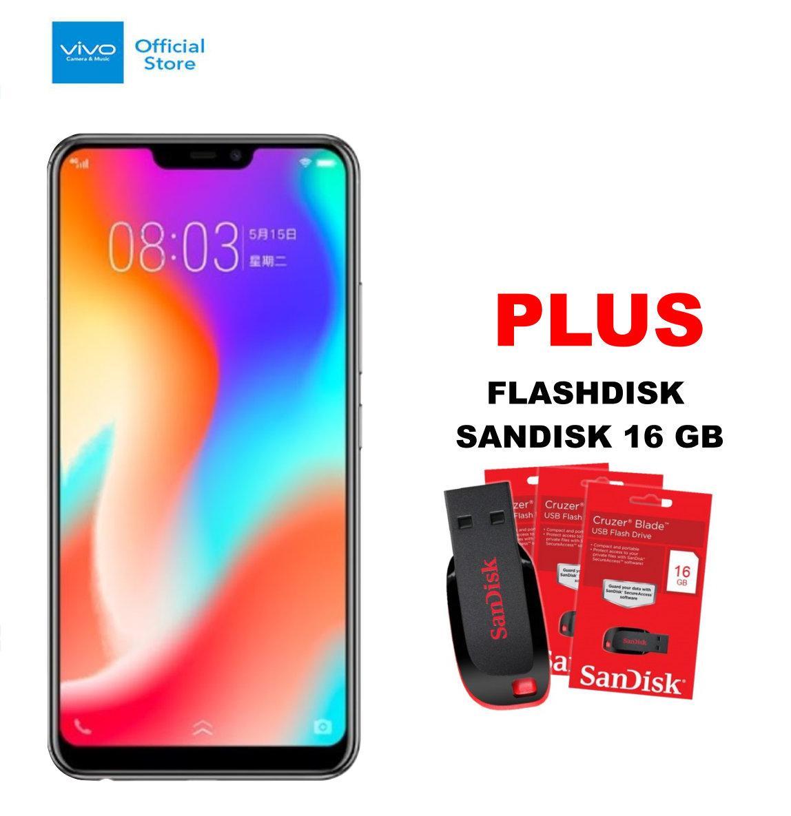 Vivo Y83 4/32GB - Black Plus Flashdisk 16 GB