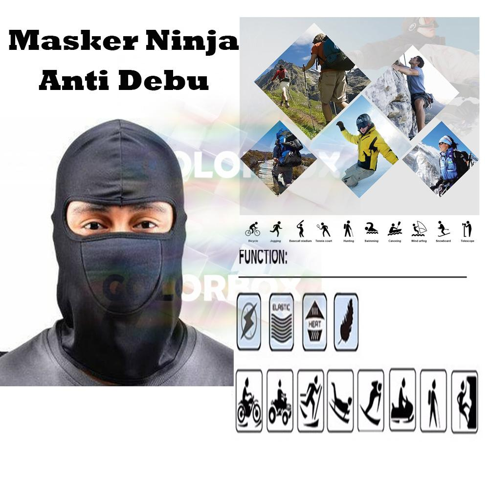 MR Masker Ninja Full Face Sarung Kepala Helm Untuk Pengendara Motor / Masker Motor Sarung Kepala