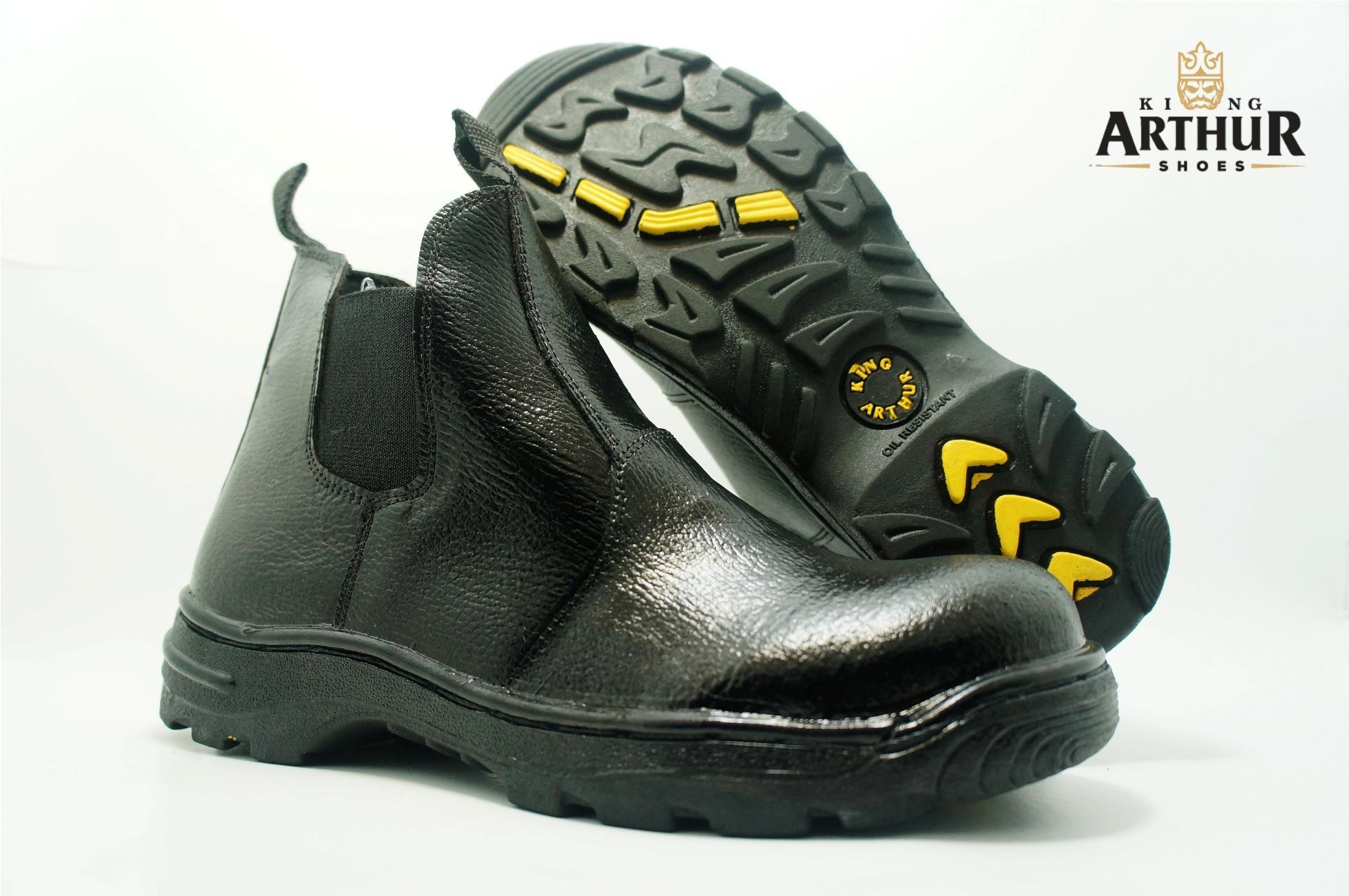 Sepatu Safety Karet Samping Asli Kulit King Arthur By Counter Sepatu.