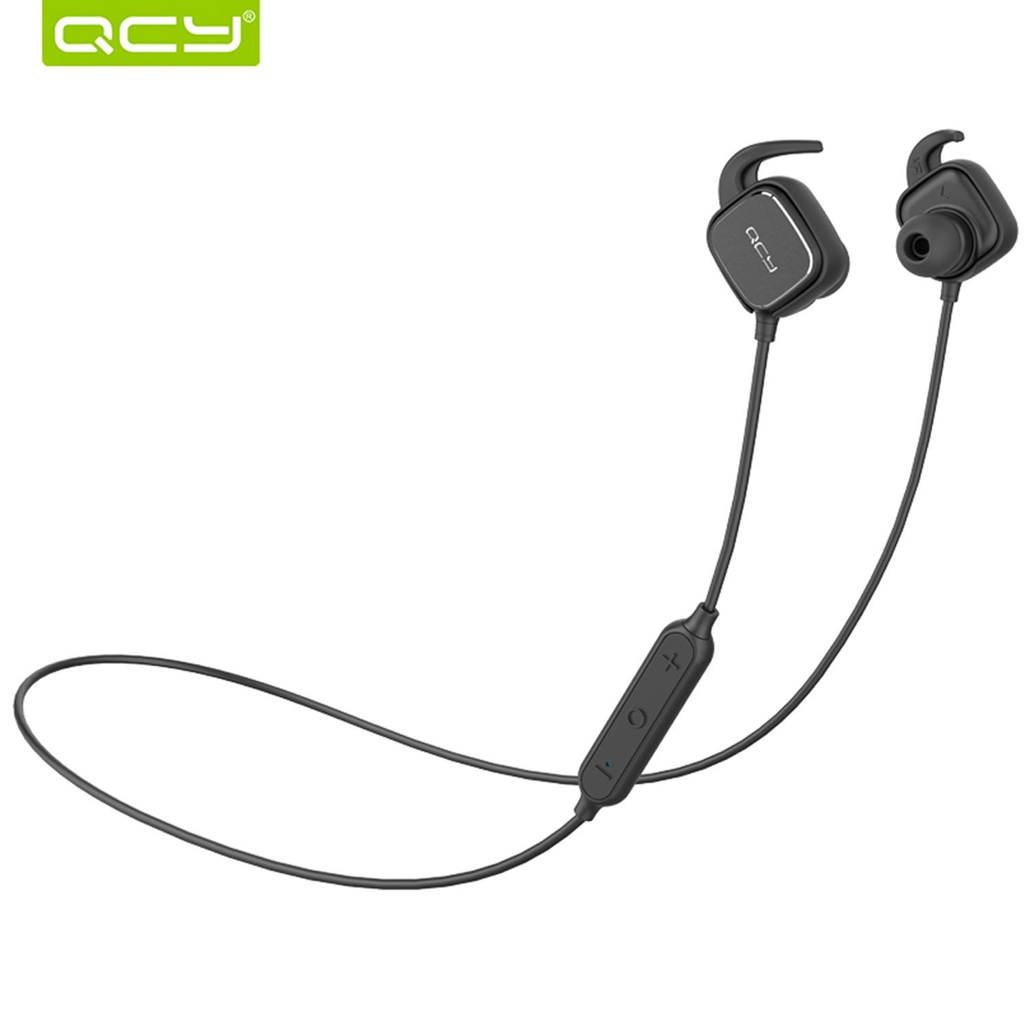 QCY QY12 Bluetooth Earphones Sport Wireless Earphones Magnet Switch Earbuds With Mic Noise Cancelling Earbud For Iphone Samsung Xiaomi Oppo Huawei Vivo Phone