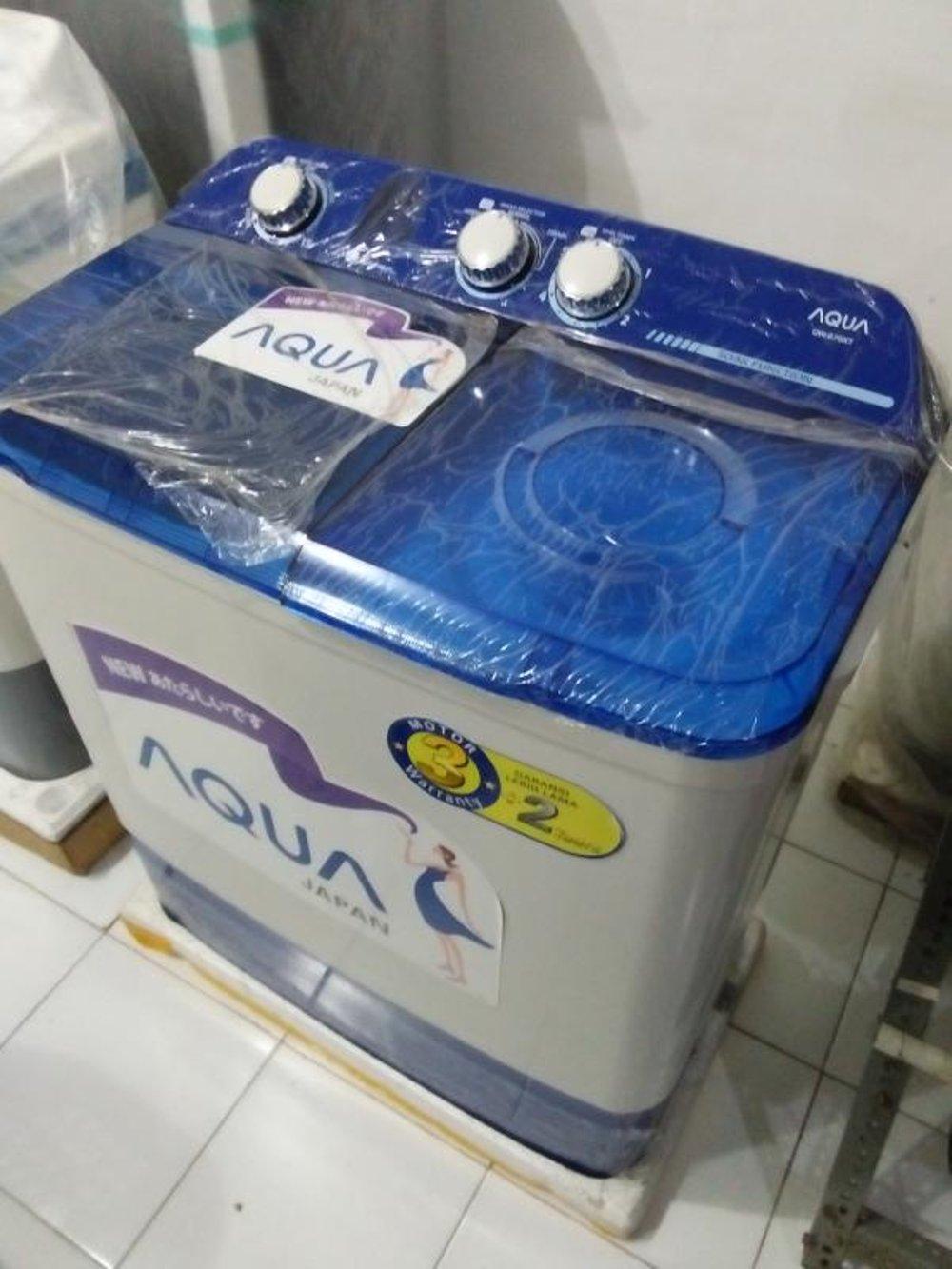 Aqua Mesin Cuci 2 Tabung Semi Automatic Qw 771xt Kapasitas 7 Kg 9kg Qw980xt Putih Free Ongkir Jabodetabek 980xt