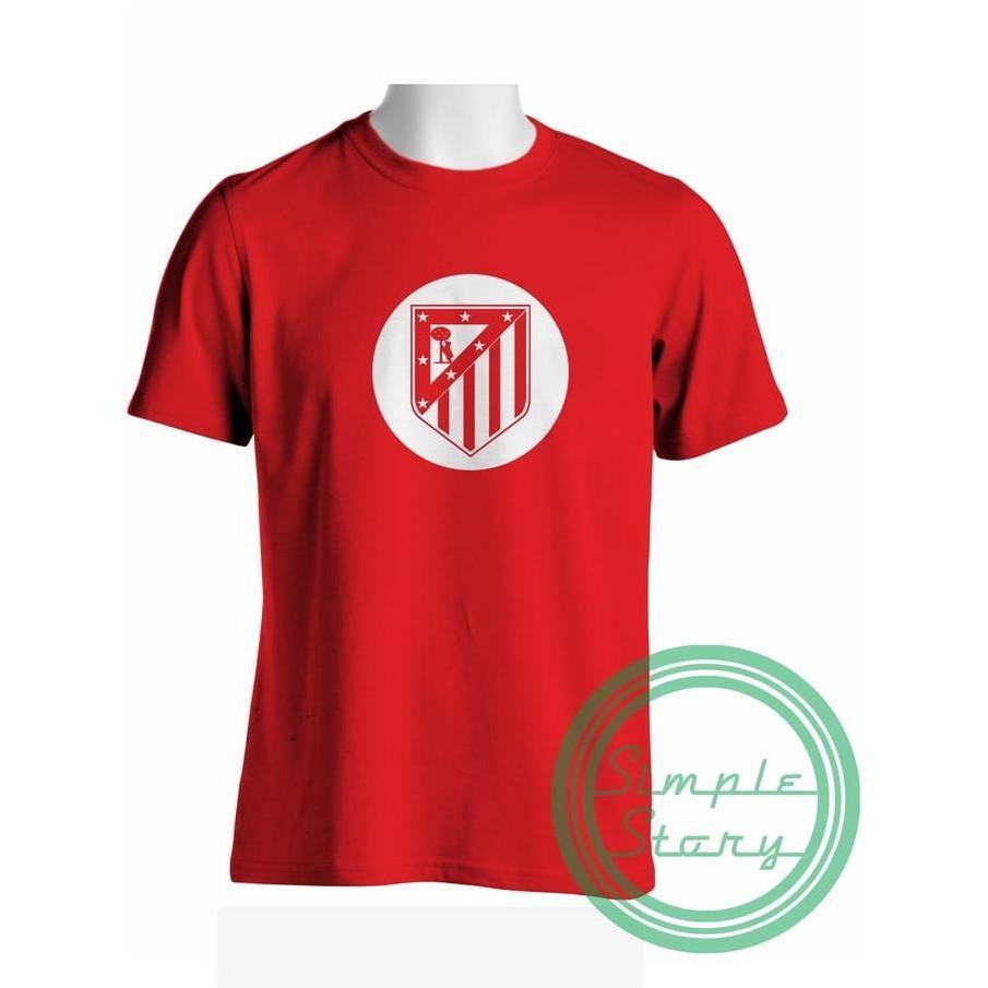 Kaos Tshirt Baju Combed 30S Distro Atm Atletico Madrid Home Jersey - Comjersey