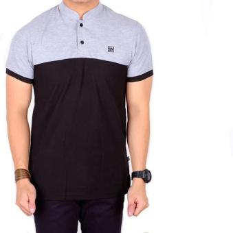 HARGA DISKON!!! Polo Shirt Pria Lengan Pendek Blu List Black Slimfit / Baju Kaos Kerah