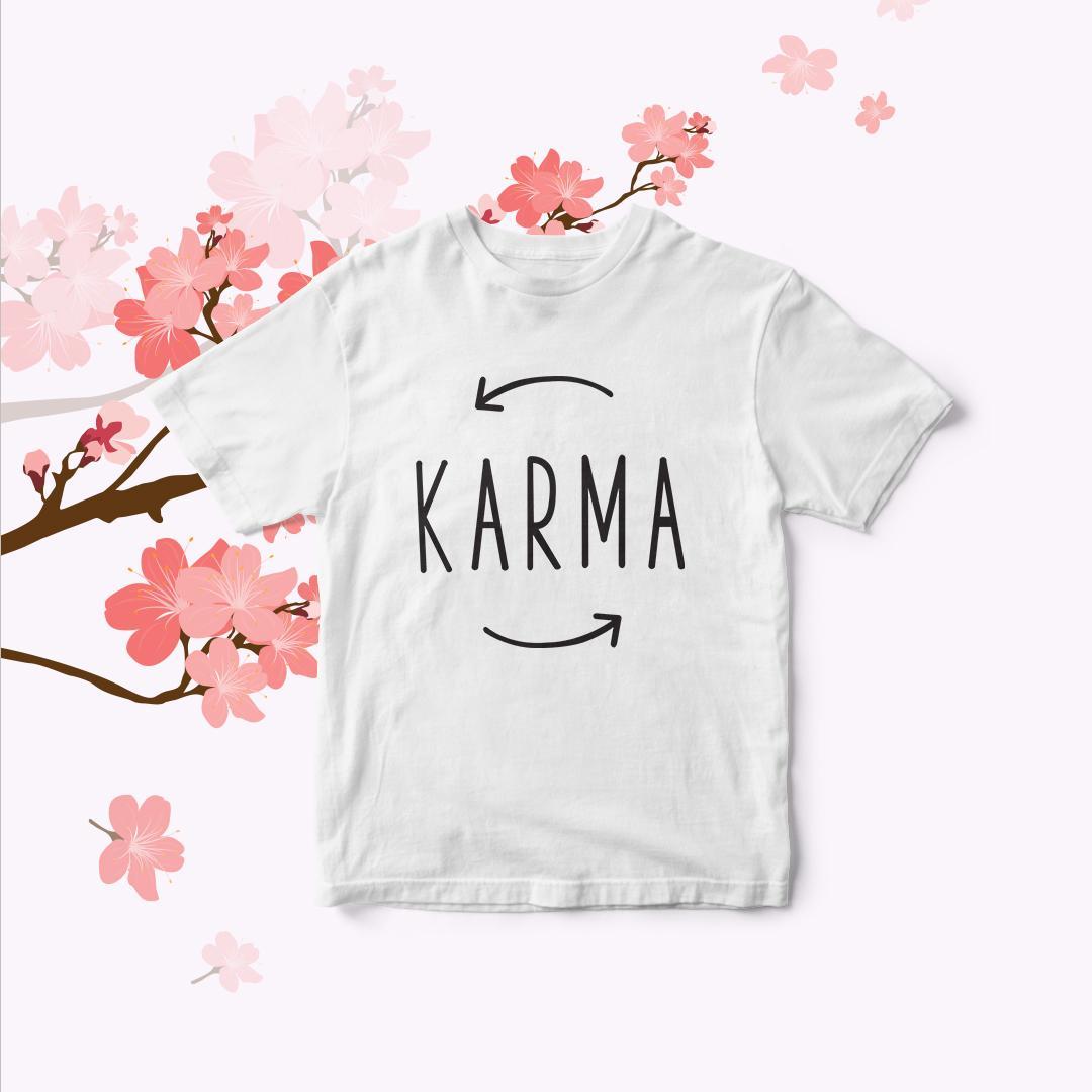 POLARISSHIRT - Baju Kaos T-shirt KARMA Tumblr Tee Cewek / Kaos Wanita / Tshirt