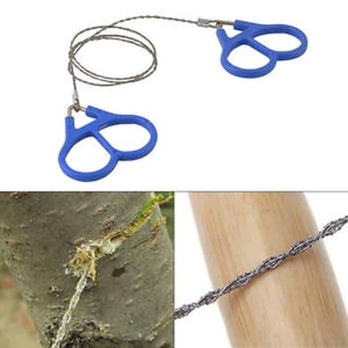 Diskon 10%!! Hiking Camping Stainless Steel Wire Saw Emergency Travel Survival Gear - ready stock