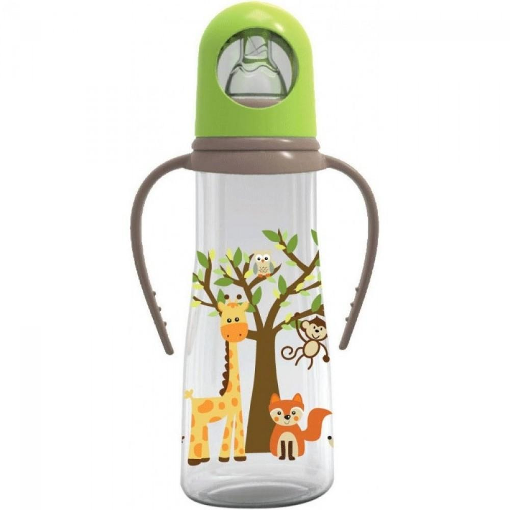 Baby Safe Botol Susu/Feeding Bottle With Handle 250 ml JP005