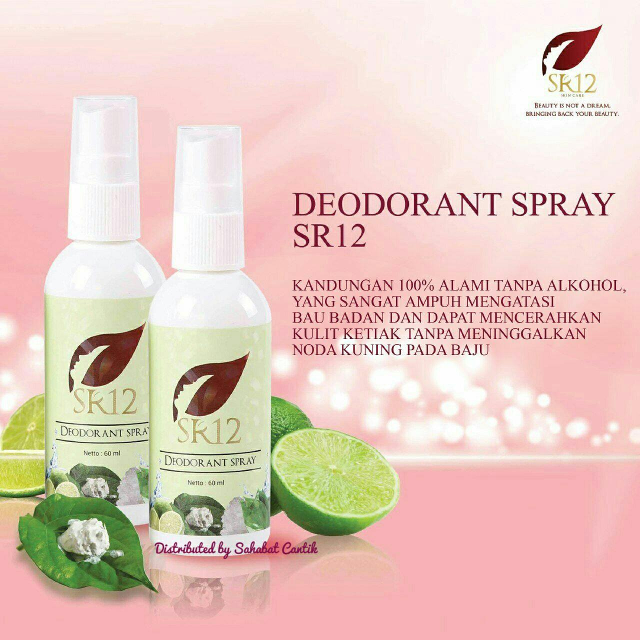 Sr12 Salimah Slim Deodorant Spray 60ml Original