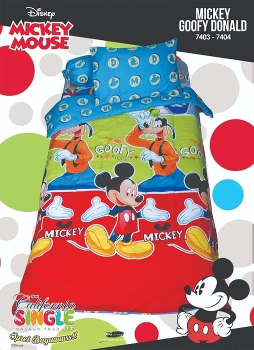 BEDCOVER SET CALIFORNIA MICKEY GOOFY DONALD SINGLE 120 No.3 BCS DISNEY Exclusive