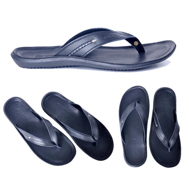 Harga Diskon!! Sandal Kulit Pria Wanita Geox Model Jepit Sandal Santay Casual Formal - ready stock