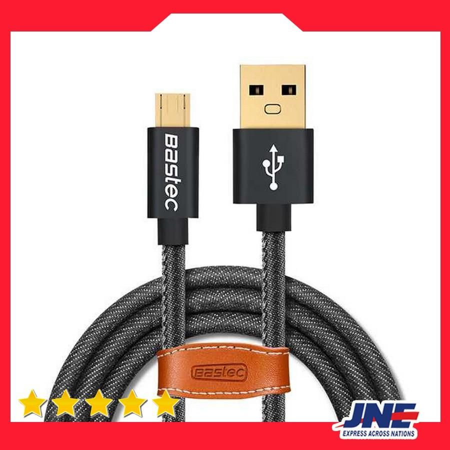 Kabel Data   Kabel Charger Bastec Kabel Charger Micro USB Leather