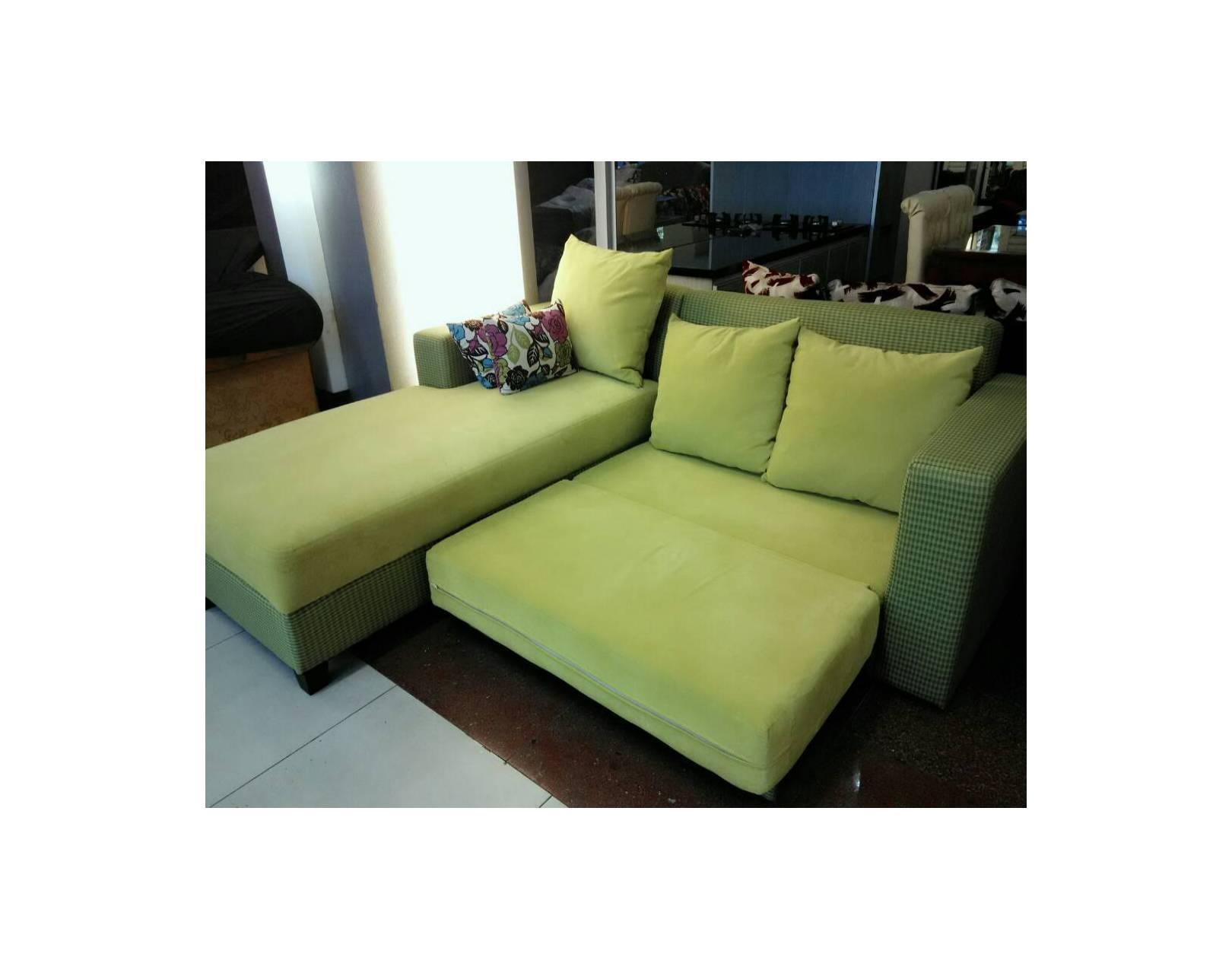 sofa l bed minimalis