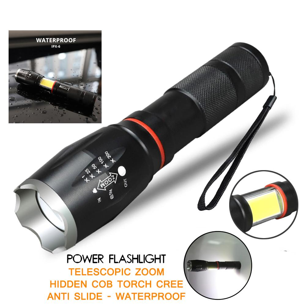 Pocketman Senter Led 2000 Lumens Waterproof - Black By Asahi Computer