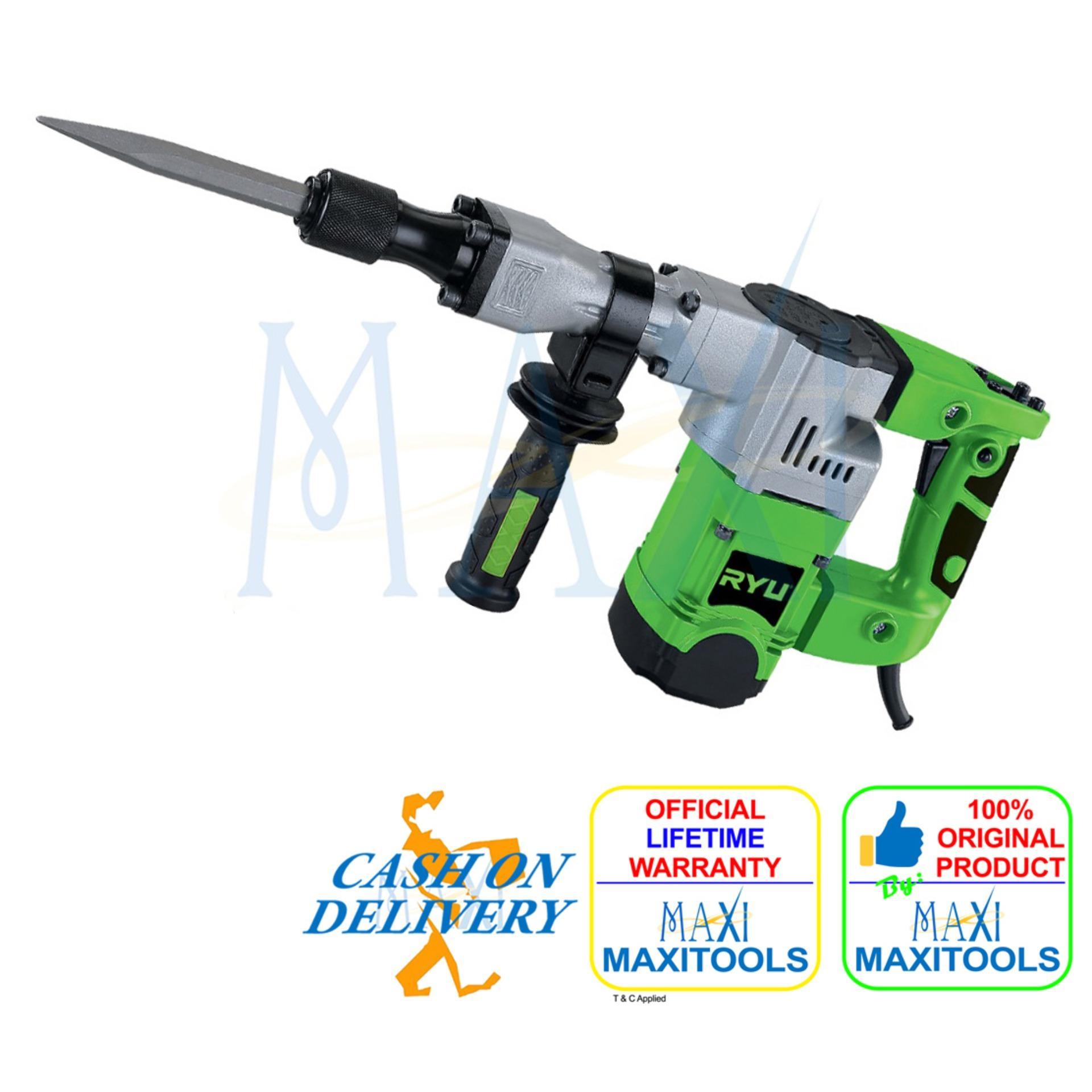 Jual Palu Elektrik Hammer Drill Mesin Bor Beton Tembok Maxitools Tekiro Ryu Demolition 15 Joule Jack