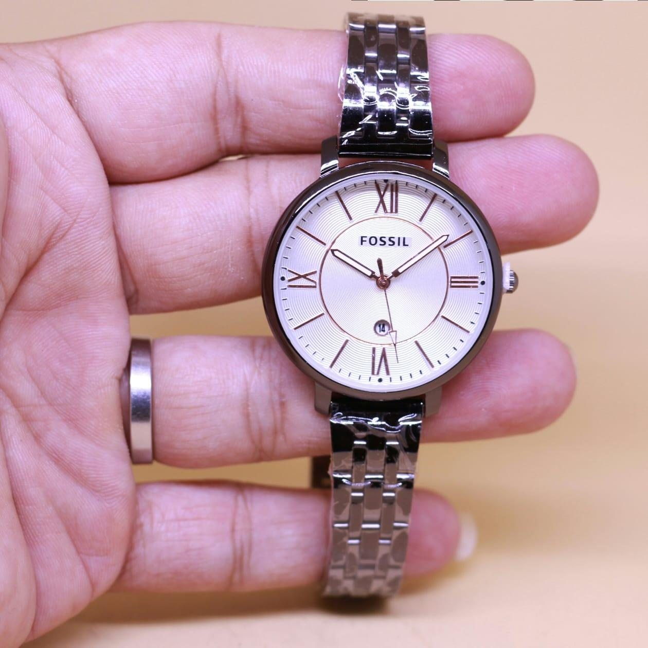 Jam Tangan Tetonis Wanita Gc Leather Model Formal Rantai Stainlessn Steel Tanggal Aktif Huruf Romawi