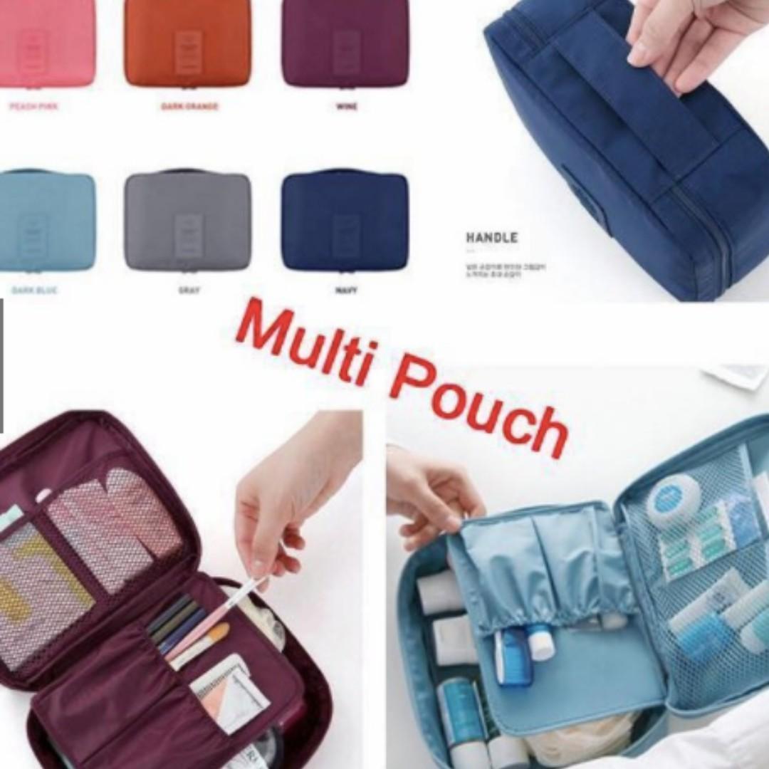 Universal Cosmetic Multi Pouch Kosmetik Organizer Multifungsi Travel Monopoly -PinkIDR30000. Rp 32.500
