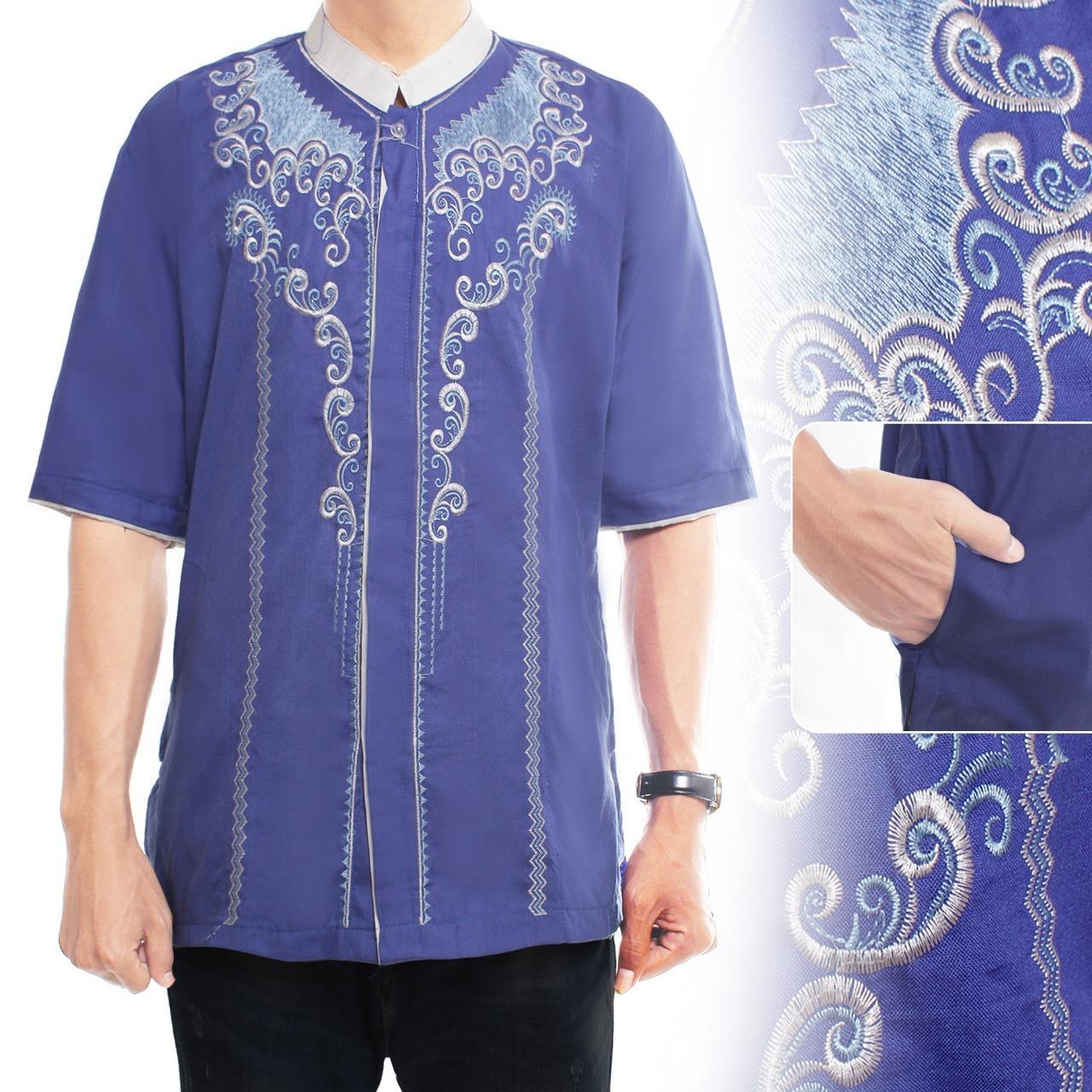 Cj Collection Baju koko atasan kemeja batik pria jumbo shirt Arham
