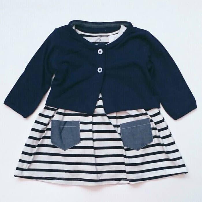 Rp 154.500. Jumper Dress Anak Bayi Perempuan Carter's Cardigan Putih Biru GarisIDR154500. Rp 160.000