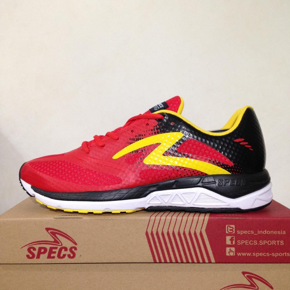 Sepatu Running Lari Specs Dual Cardio Emperor Red Yellow 200528 Original 7471571d4e