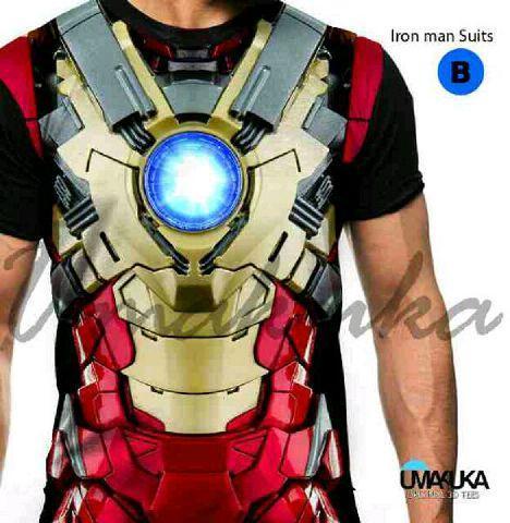 Kaos markoa3D FP UMAKUKA (Iron man suit) - size M